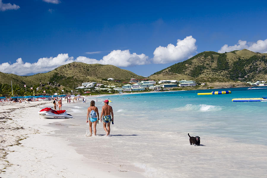 Orient Beach In St Martin Fwi Photograph  - Orient Beach In St Martin Fwi Fine Art Print