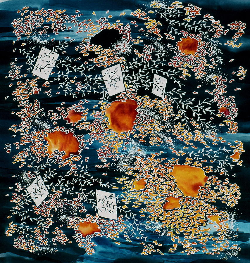 Oriental Moonlight Tapestry - Textile
