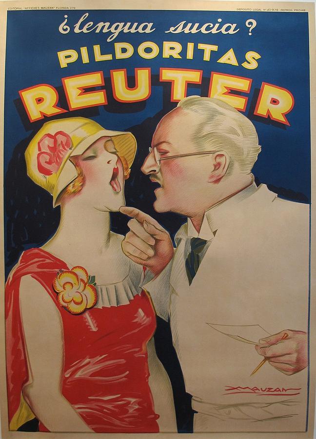 Original 1930s Poster - Reuter - Mauzan Painting