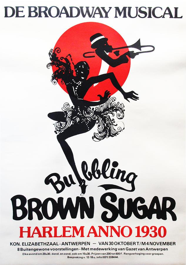 original 1970s broadway musical poster bubbling brown