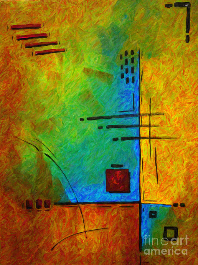 Original Abstract Painting Digital Conversion For Textured Effect Resonating IIi By Madart Painting