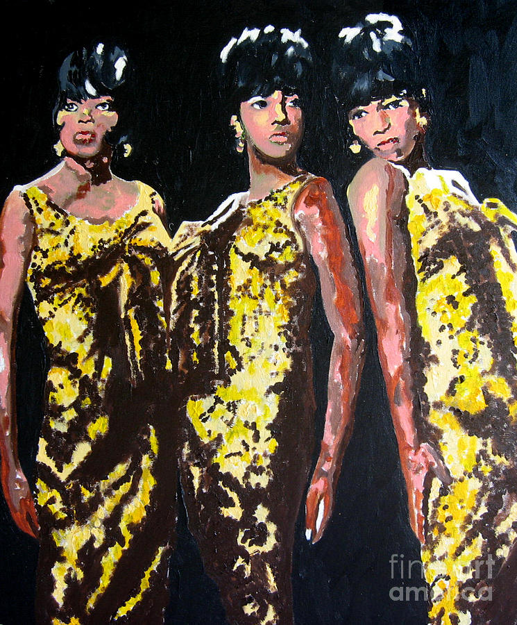 Diana Ross  Painting - Original Divas The Supremes by Ronald Young