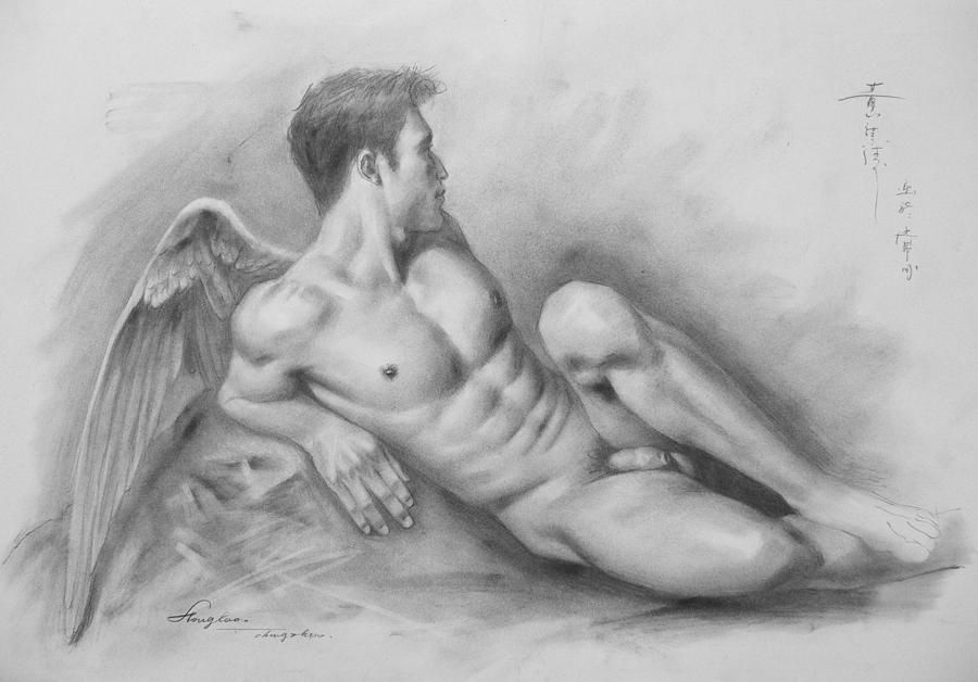 male nude angel