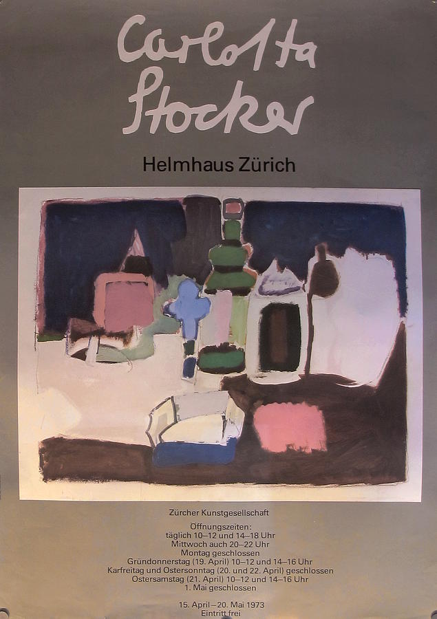 Original Swiss Exhibition Poster - Carlotta Stocker Drawing