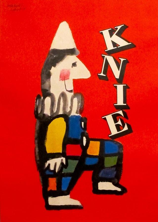 Original Swiss National Circus Poster Knie Drawing