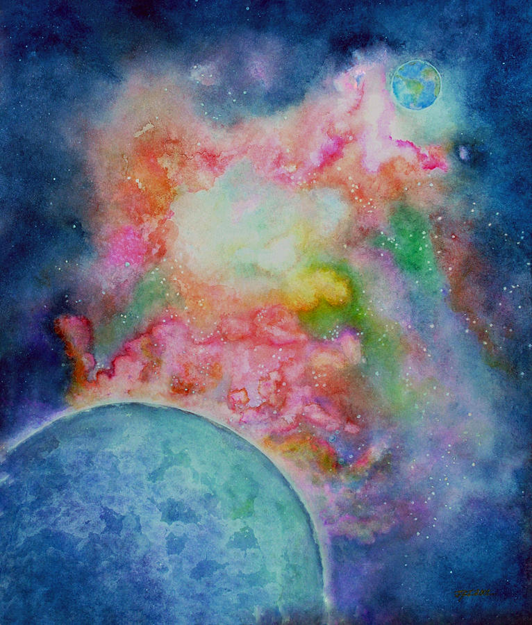 Orion Nebula Painting by Janet Immordino