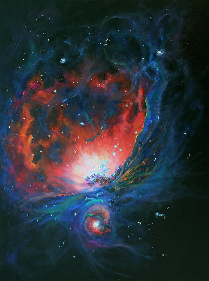 Orion Nebula M42 Painting by Marie Green