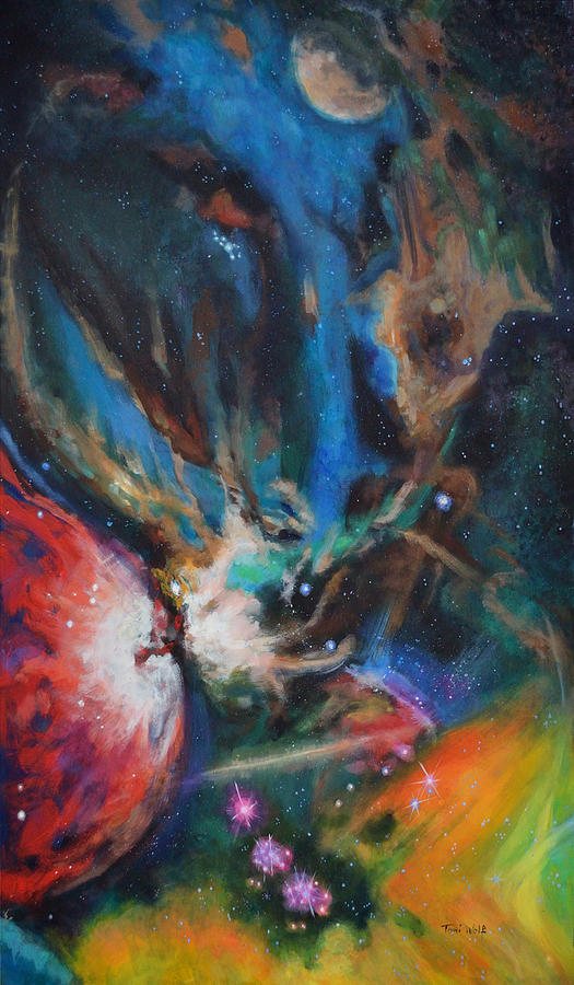 Art Painting - Orion Nebula by Toni Wolf