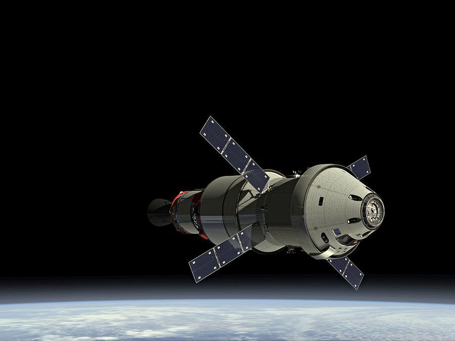 Orion Service Module Photograph