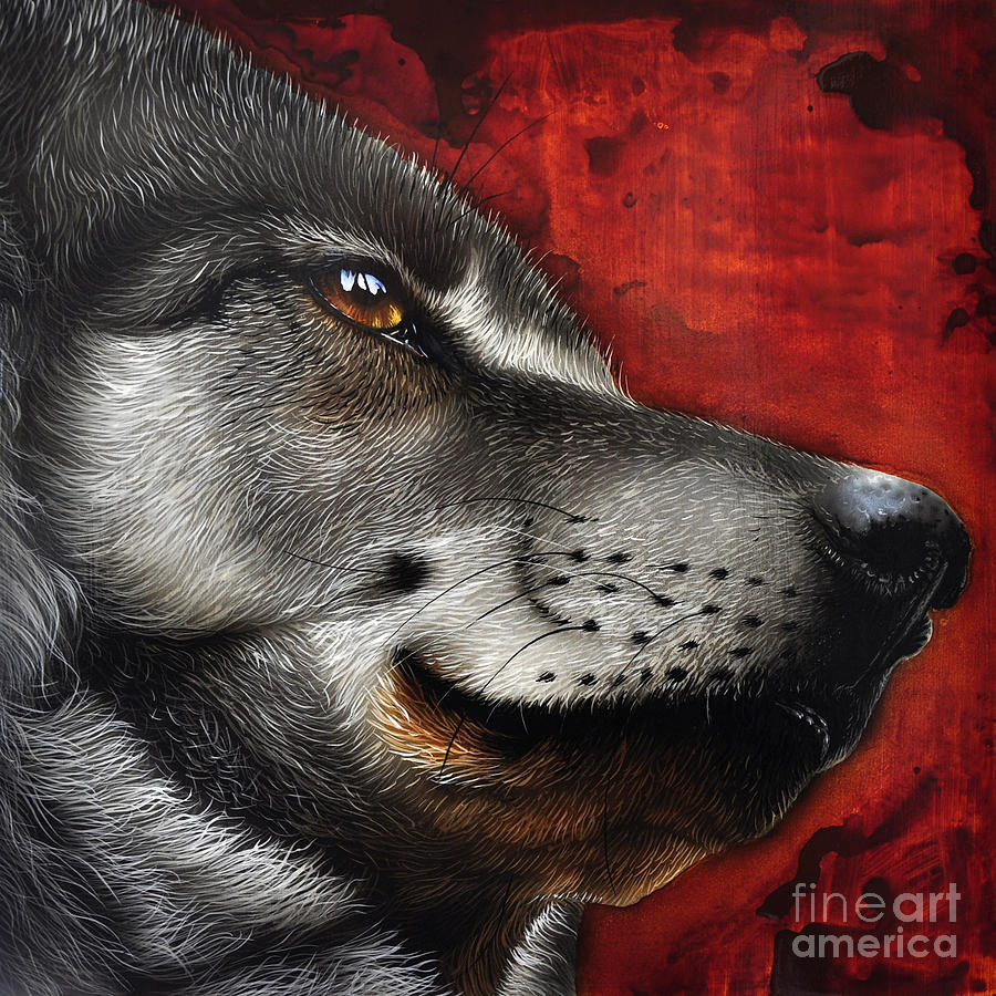 Orion Wolf Painting