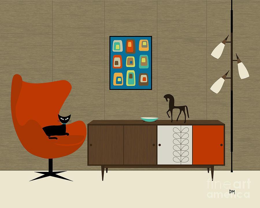 Orla Kiely Cabinet Digital Art