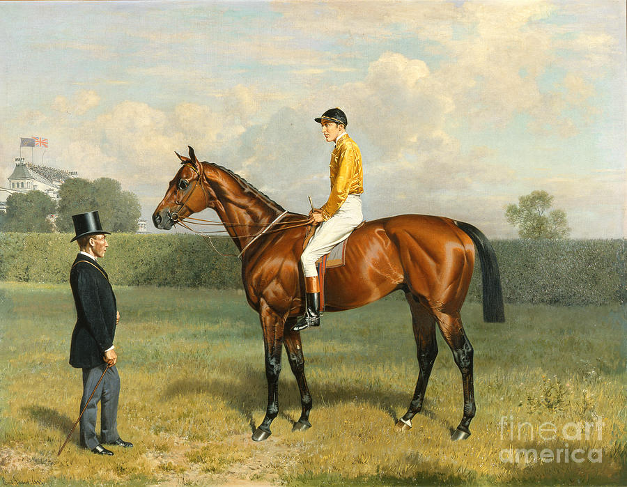Racehorse Painting - Ormonde Winner Of The 1886 Derby by Emil Adam