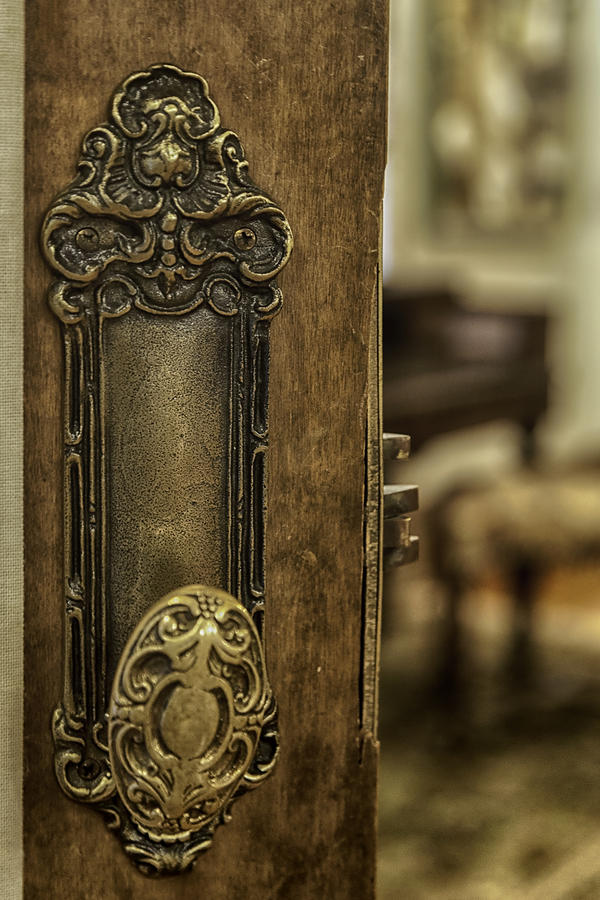 Ornate Brass Doorknob Photograph  - Ornate Brass Doorknob Fine Art Print