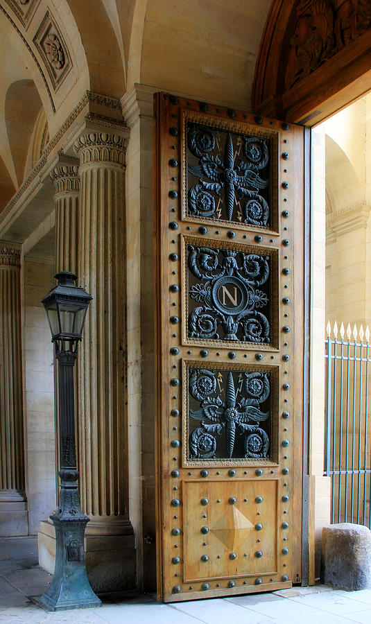 Paris Photograph - Ornate Door by Andrew Fare