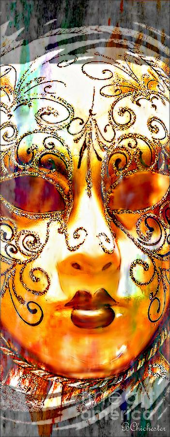 Ornate Venetian Mask Painting  - Ornate Venetian Mask Fine Art Print