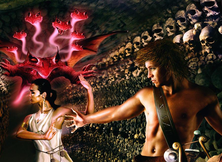 Orpheus and eurydice art