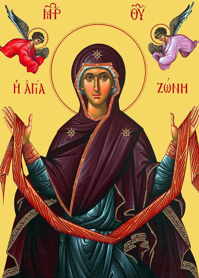 Orthodox Photograph - Orthodox Icon Of Mary by Munir Alawi