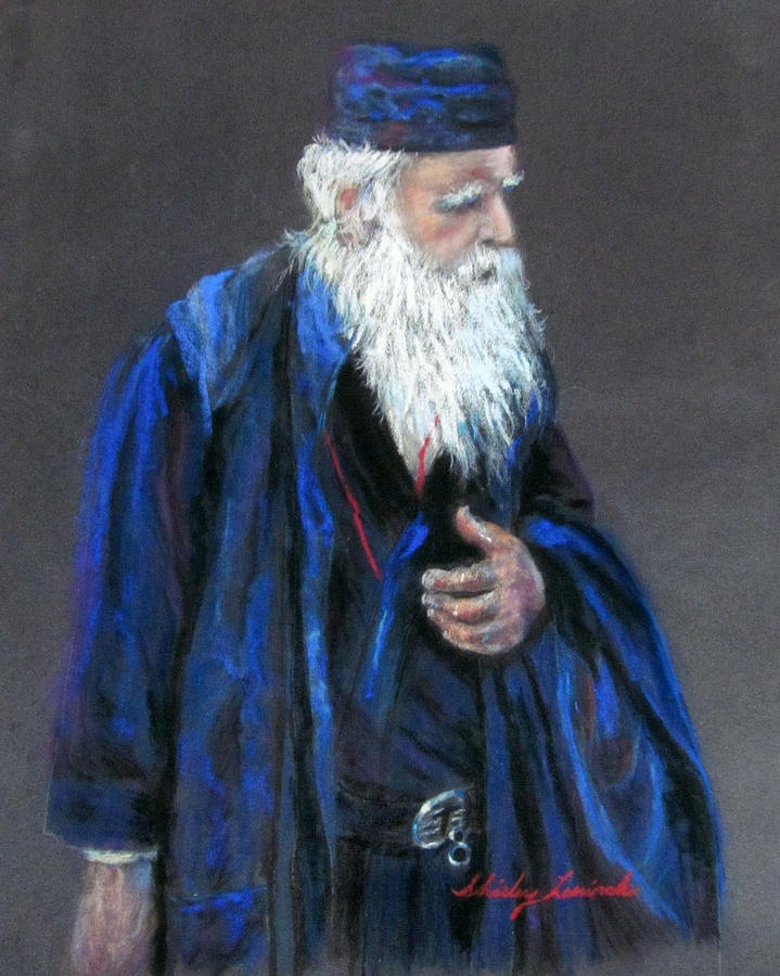Priest Painting - Orthodox Priest From Athens Greece by Shirley Leswick