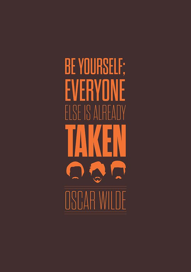 Oscar Wilde Quote Typographic Art Print Digital Art