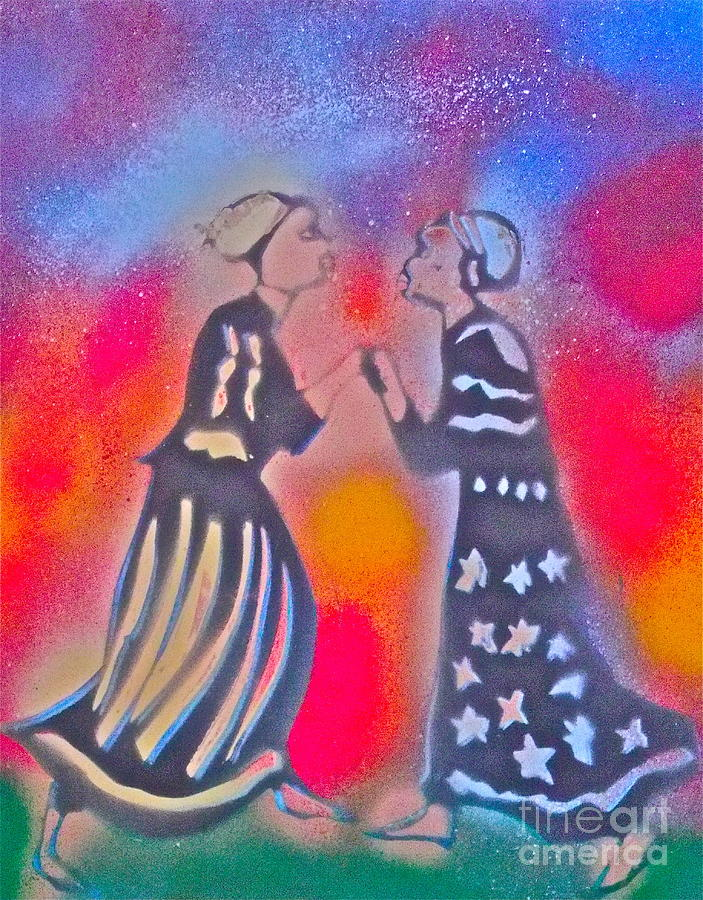Nigeria Painting - Oshun And Yemaya by Tony B Conscious