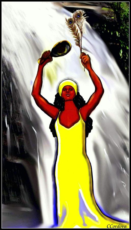 Oshun -goddess Of Love -4 Digital Art  - Oshun -goddess Of Love -4 Fine Art Print