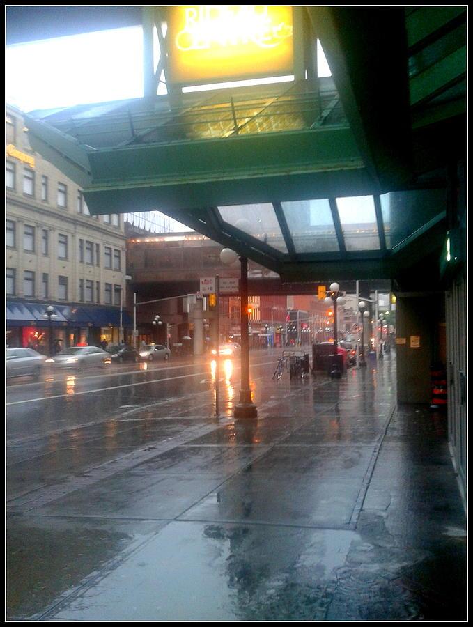 Ottawa Canada On A Rainy Day Photograph