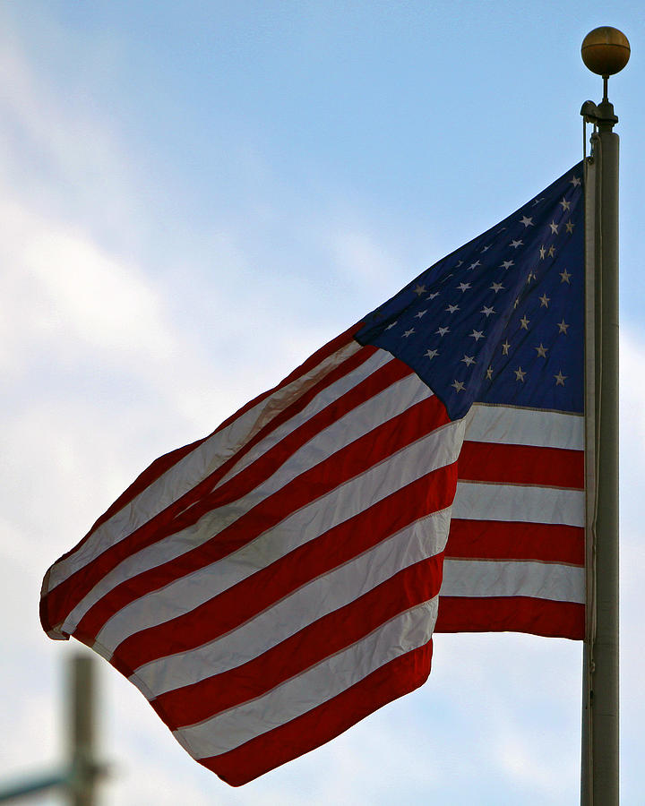 Stars And Stripes Photograph - Our Flag Was Still There by Shoal Hollingsworth