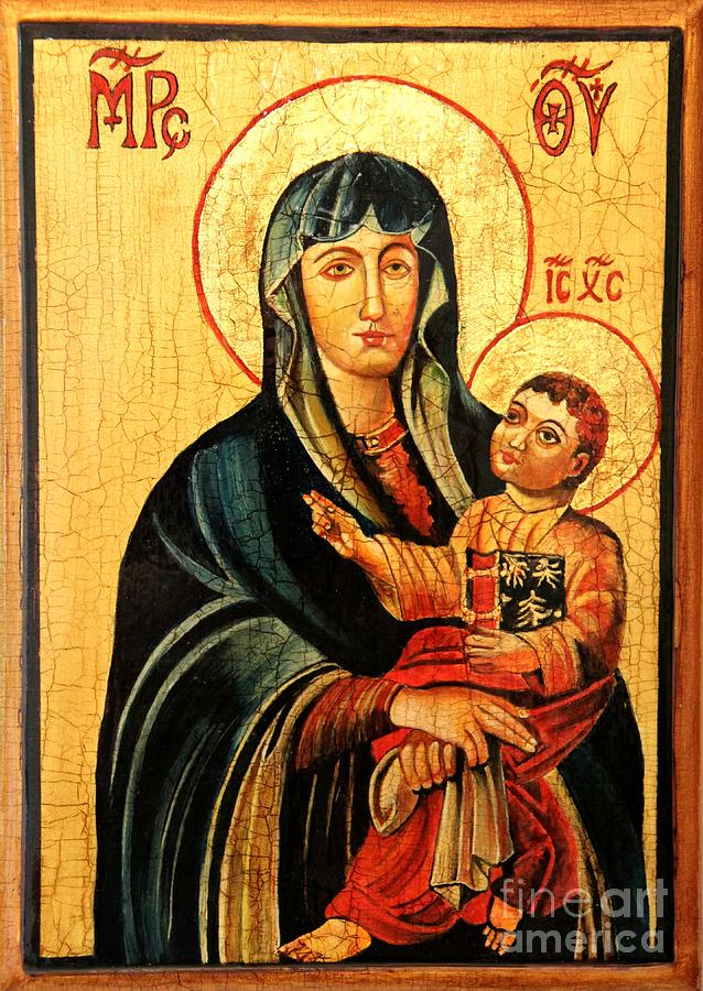 Our Lady Of Cieszyn Icon Painting