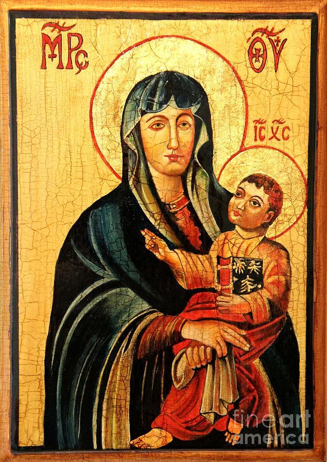 Our Lady Of Cieszyn Painting - Our Lady Of Cieszyn Icon by Ryszard Sleczka