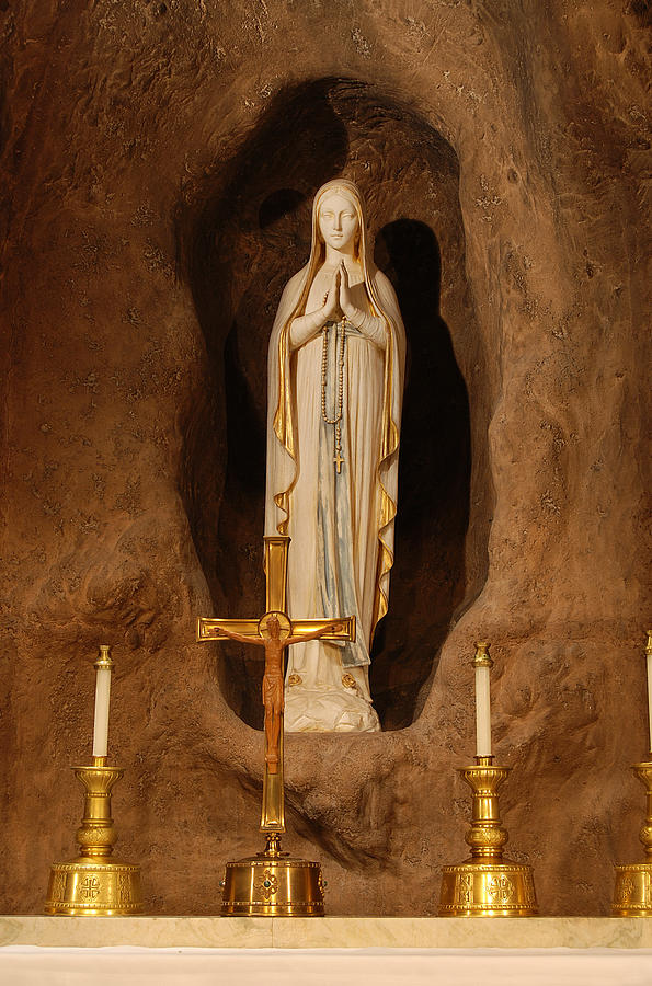 Mary Photograph - Our Lady Of Lourdes by Philip Ralley