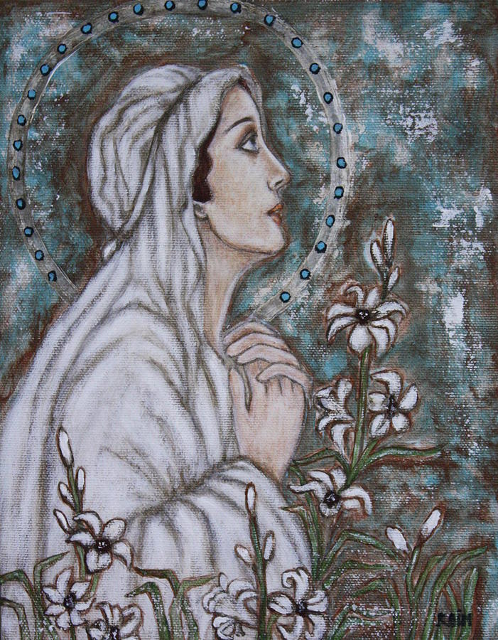 Our Lady Of Mental Peace Painting  - Our Lady Of Mental Peace Fine Art Print