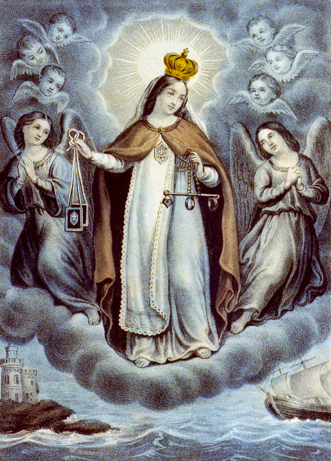 Artwork Painting - Our Lady Of Mercy Circa 1856  by Aged Pixel