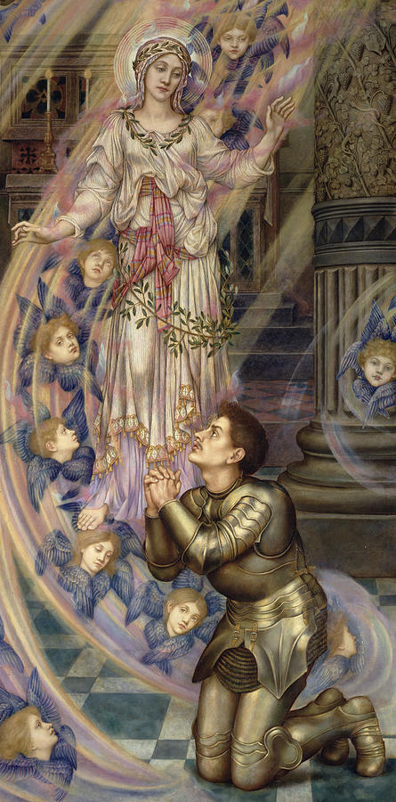 Olive Branches Painting - Our Lady Of Peace by Evelyn De Morgan