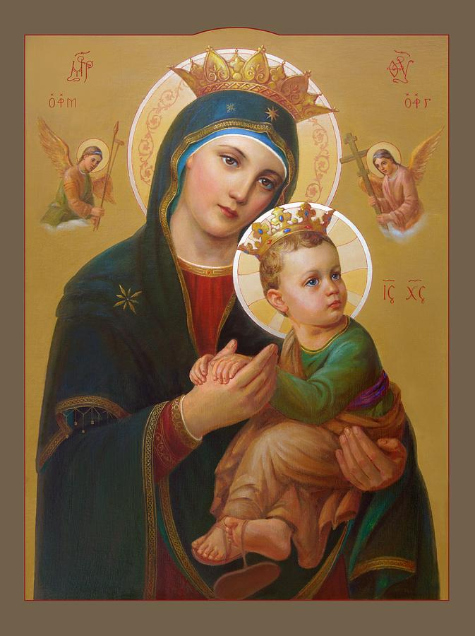 Our Lady Of Perpetual Help Painting  - Our Lady Of Perpetual Help Fine Art Print