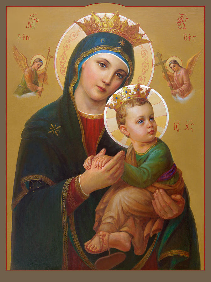 Our Lady Of Perpetual Help. Virgen Del Perpetuo Socorro Painting