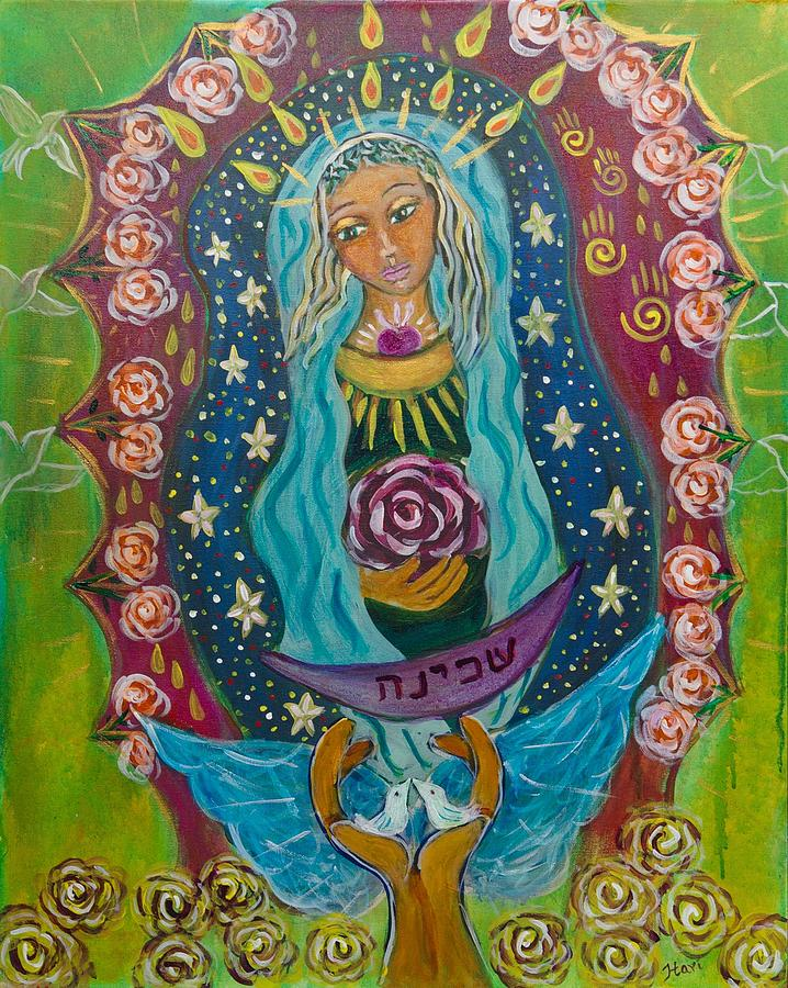 Sacred Feminine Painting - Our Lady Of Rebirth And Renewal by Havi Mandell