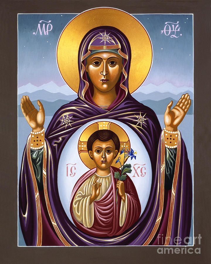 Our Lady Of The New Advent Gate Of Heaven Painting  - Our Lady Of The New Advent Gate Of Heaven Fine Art Print