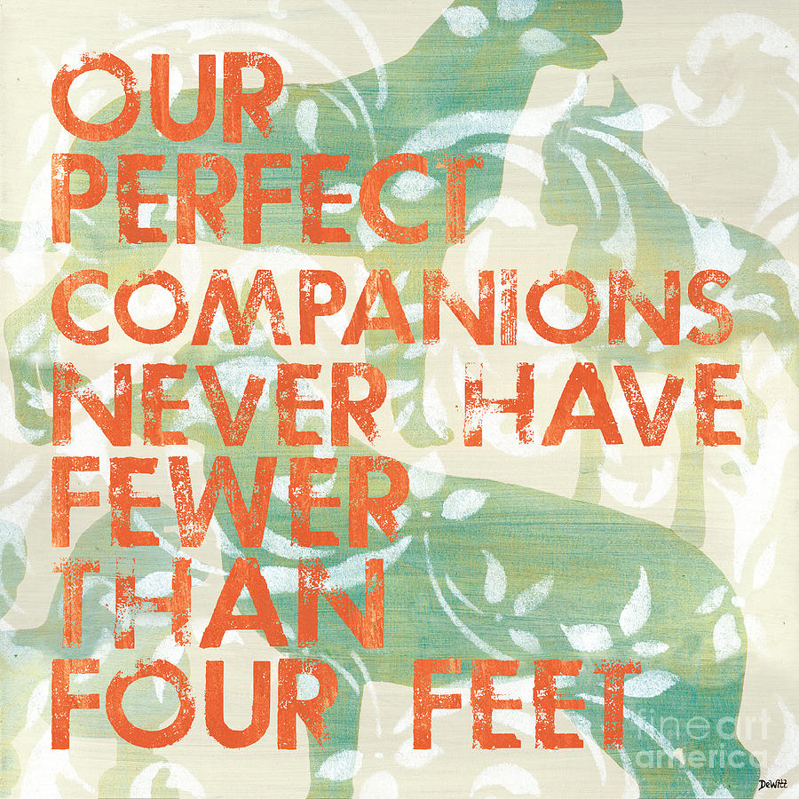 Our Perfect Companion Painting  - Our Perfect Companion Fine Art Print