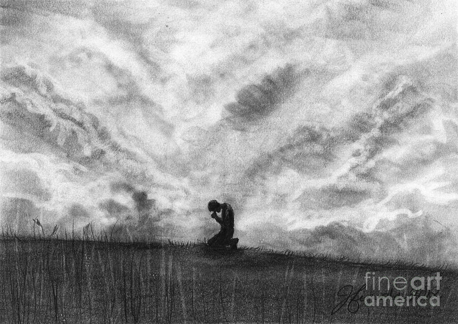 Our Prayers Drawing  - Our Prayers Fine Art Print
