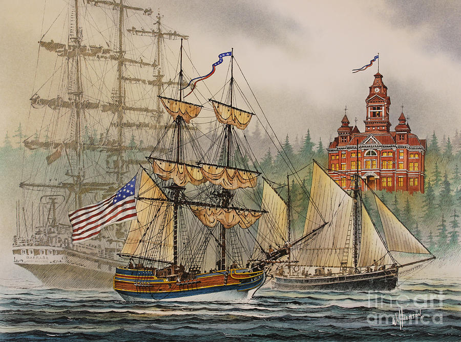 Seafaring Print Painting - Our Seafaring Heritage by James Williamson