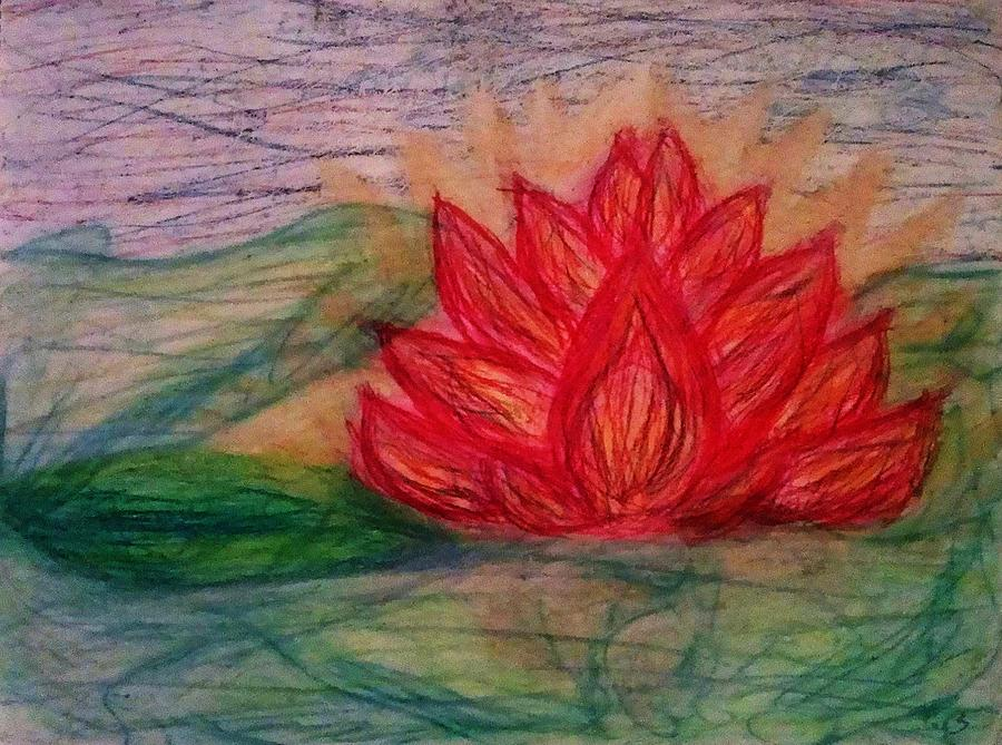 Lotus Pastel - Out Of The Muck Comes The Beauty by Thomasina Durkay
