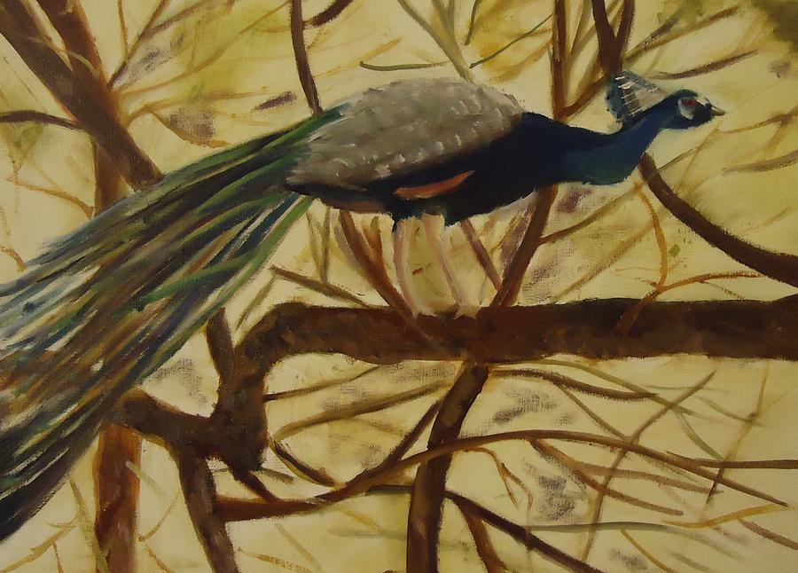 Tree Limbs Painting - Out On A Limb by Betty Pimm