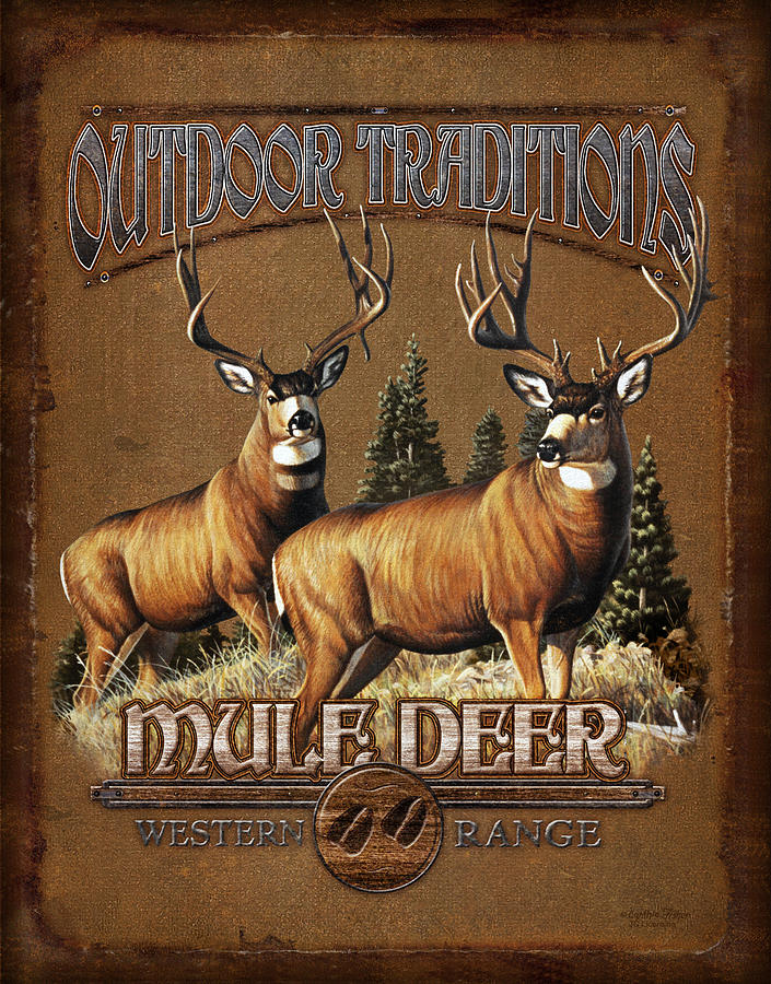 Outdoor Traditions Mule Deer Painting  - Outdoor Traditions Mule Deer Fine Art Print