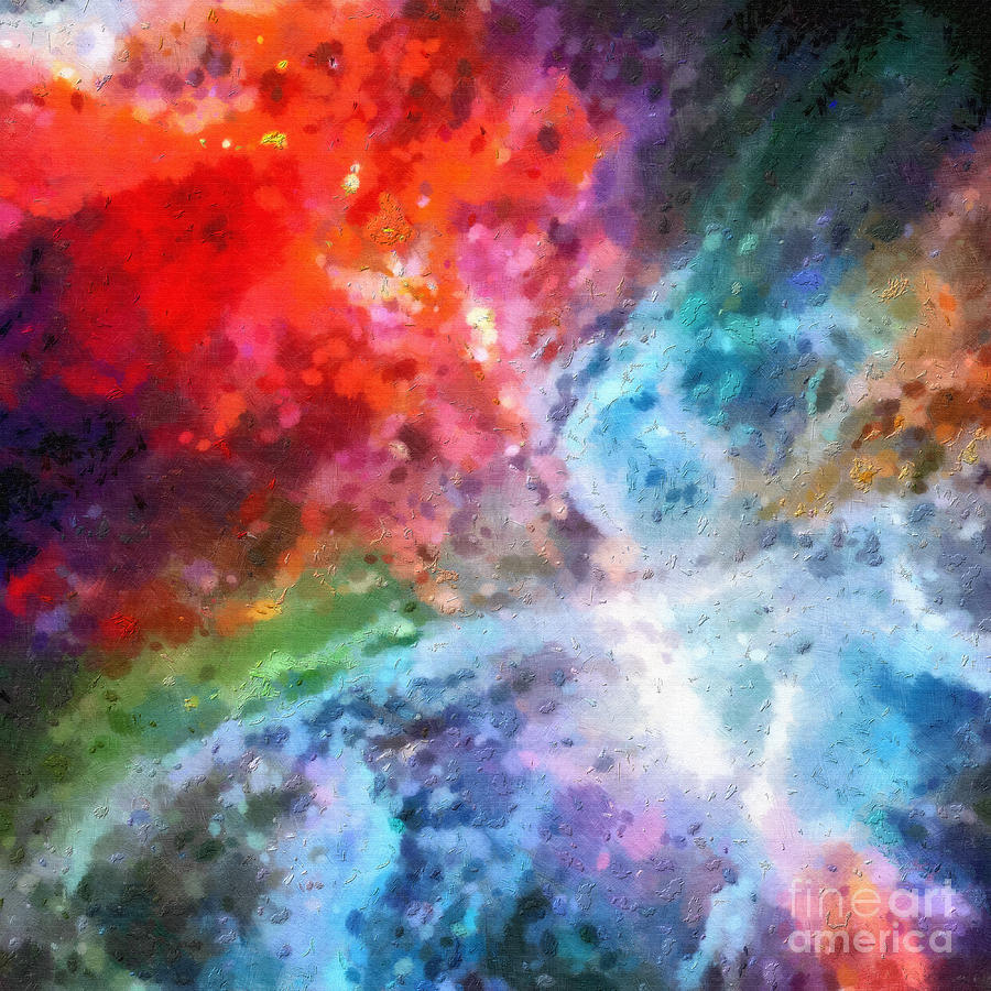 Outer space patterns painting by magomed magomedagaev for Outer space pattern