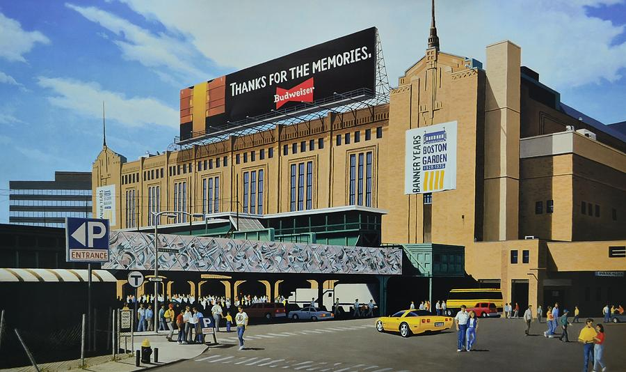 Outside Boston Garden Painting  - Outside Boston Garden Fine Art Print
