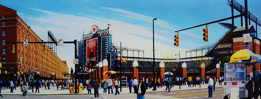 Outside Camden Yards Painting