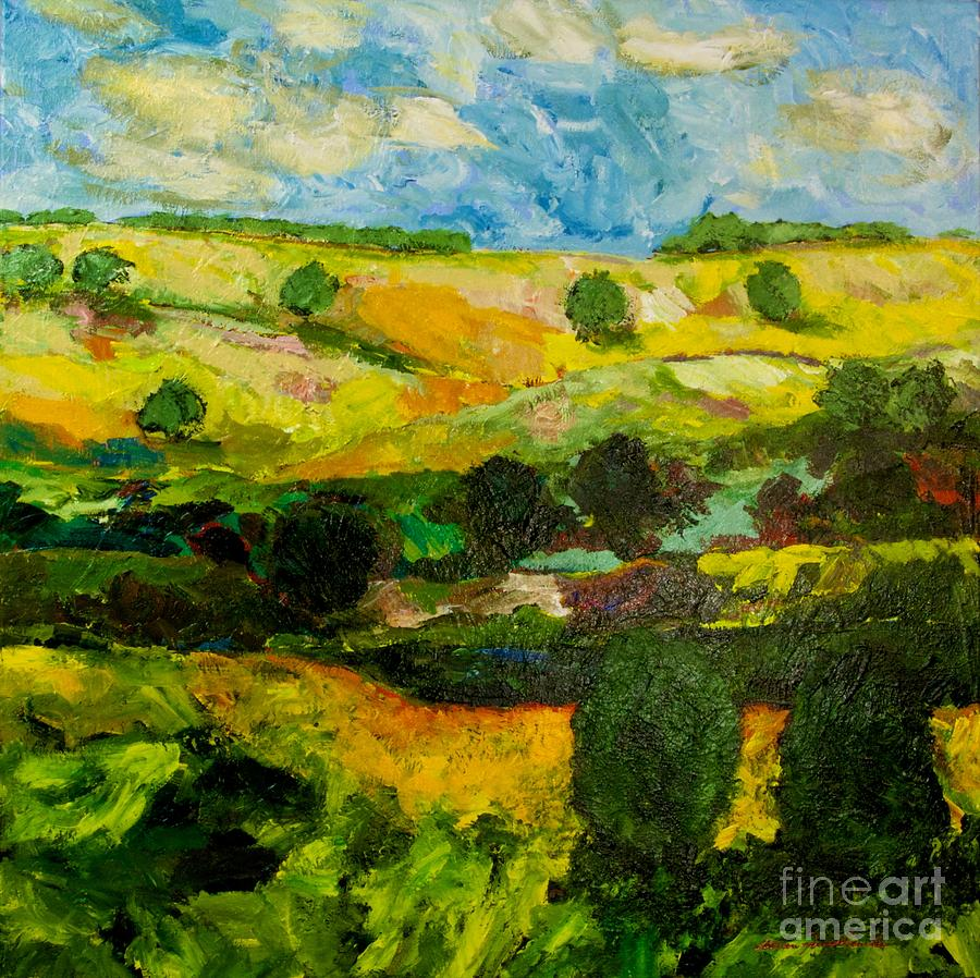 Over The Hills Painting By Allan P Friedlander