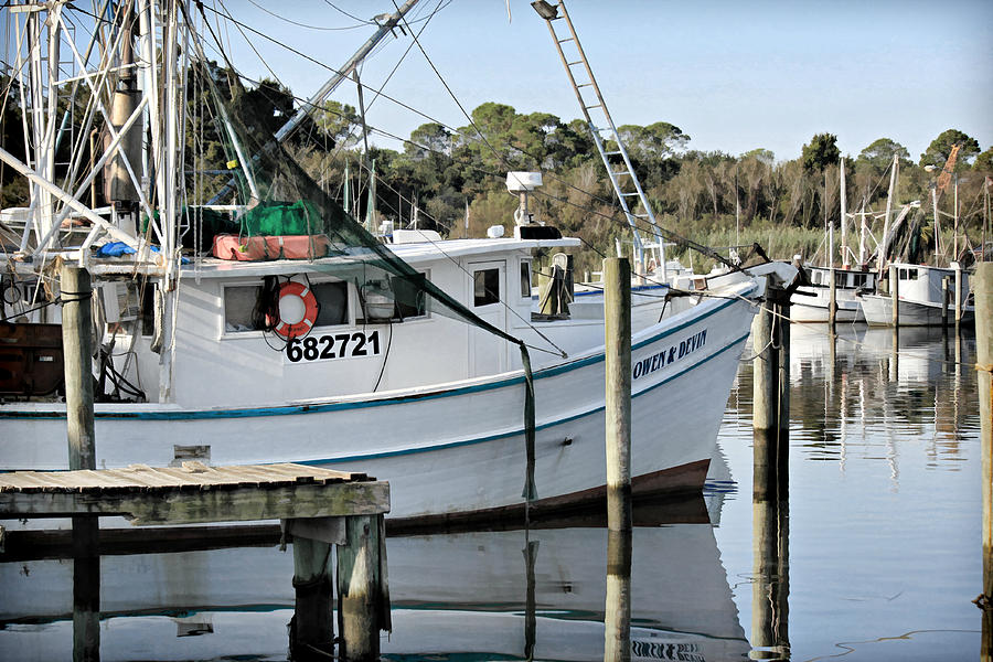 Shrimp Boat Photo Photograph - Owen And Devin by Lynn Jordan