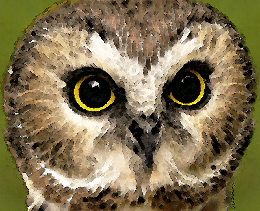 Owl Art - Night Vision Painting