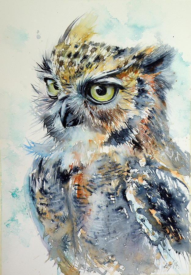 Owl Eyes Paintings Owl byOwl Eyes Paintings